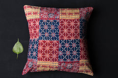 Barmer Patchwork Tagai Cotton Cushion Cover (16in x 16in)