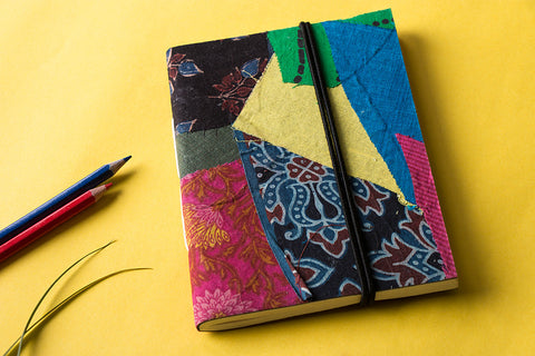 Jugaad Handmade Paper Notebook with Elastic (7in x 5in)