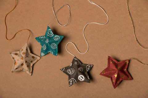 Paper Ornament Stars Hanging