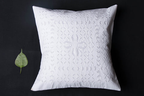 Special Barmer Applique Cut Work Cotton Cushion Cover (16in x 16in)