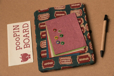 Poo pin Board With Writing Paper