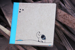 Walking Ele Square Notebook