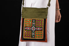 Kutchi Embroidery Mirror Work Sling Bag