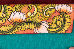 Kerala Mural Hand Painted Clutch by Sujith