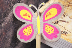 Butterfly Bamboo stick Bookmark
