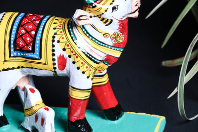 Handpainted Wooden - Cow