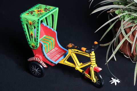 Handpainted Wooden - Cycle Rickshaw
