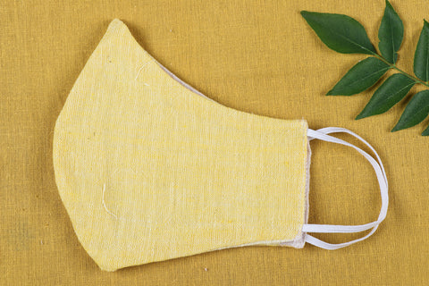 Organic Kala Cotton Pure Handloom Fabric 2 Layer Face Cover