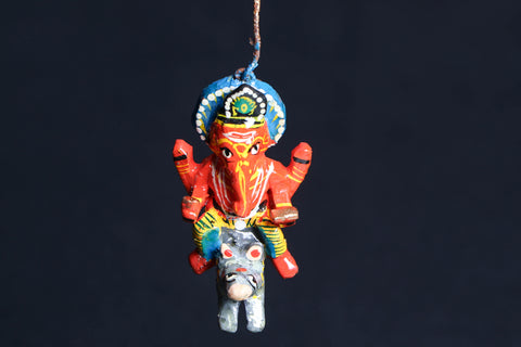 Handpainted Wooden - Flying God Ganesh