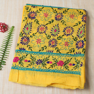 2020/645-1 44  Ranihati Cotton Chapa Work Tagai Phulkari Embroidery Unstitched Salwar