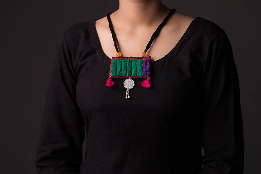 Chammak Challo Threaded Coin Work Necklace