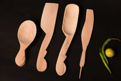 Udayagiri Wooden Kitchen Tools Set Of 4
