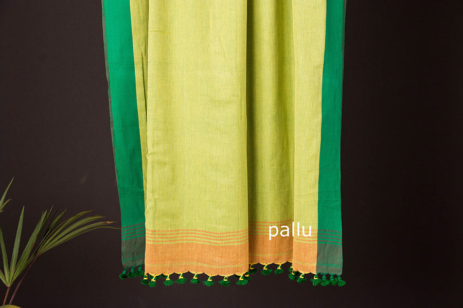 Phulia Bengal Handwoven All Over Naksha Cotton saree