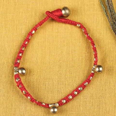 Tribal Odisha Dokra Threadwork Anklet