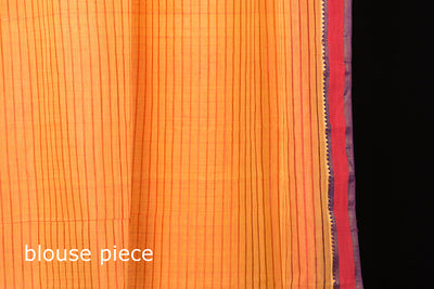 Original Mangalgiri Silk Cotton Handloom Saree with Zari Border