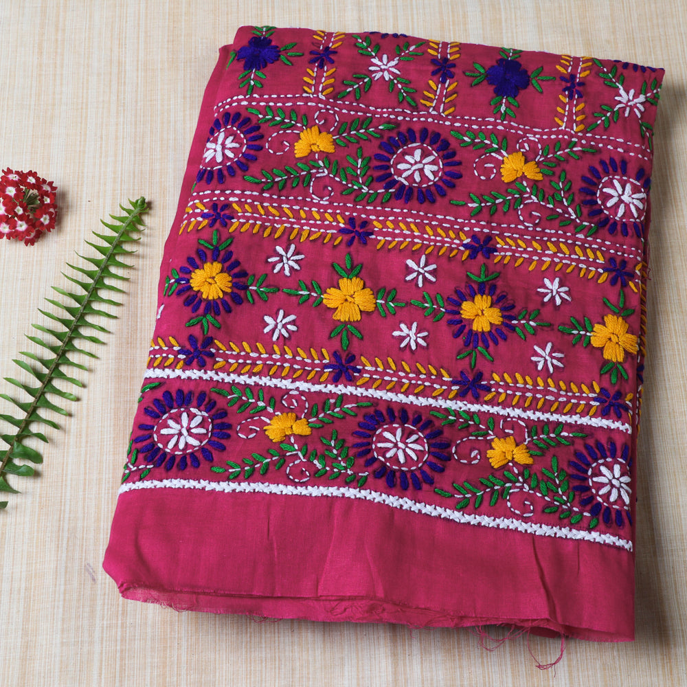 Ranihati Cotton Chapa Work Tagai Phulkari Embroidery Unstitched Salwar