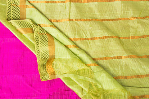 Original Mangalgiri Silk Cotton Zari Handloom Saree with Zari Border