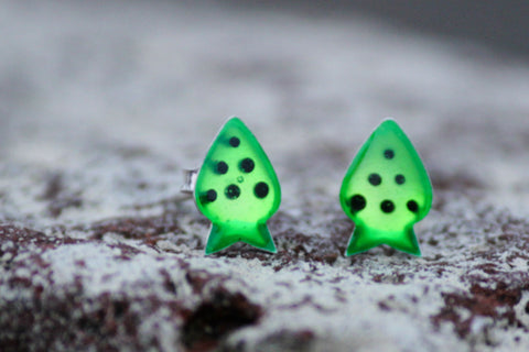 Enameled Silver Studs