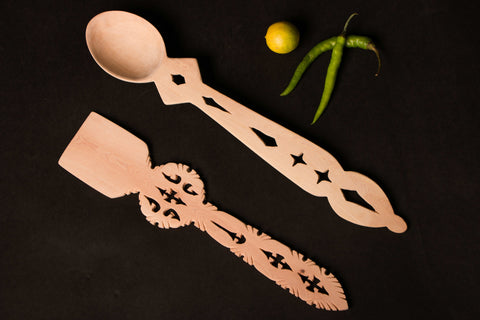 Udayagiri Wooden Kitchen Tools Set Of 2