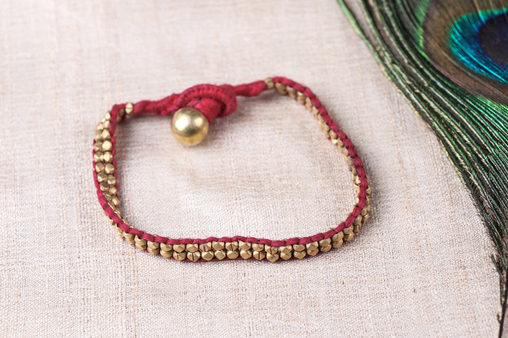 Tribal Odisha Dokra Threadwork Bracelet