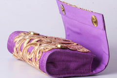 Brocade Silk Beadwork Clutch Wallet