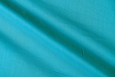 Sky Blue - Pre Washed Plain Dyed Pure Cotton Fabric (Width - 44in)