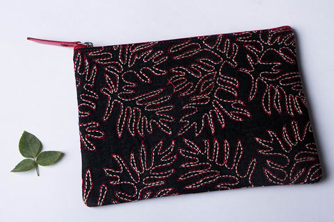 Bolpur Kantha Embroidery Multipurpose Pouch