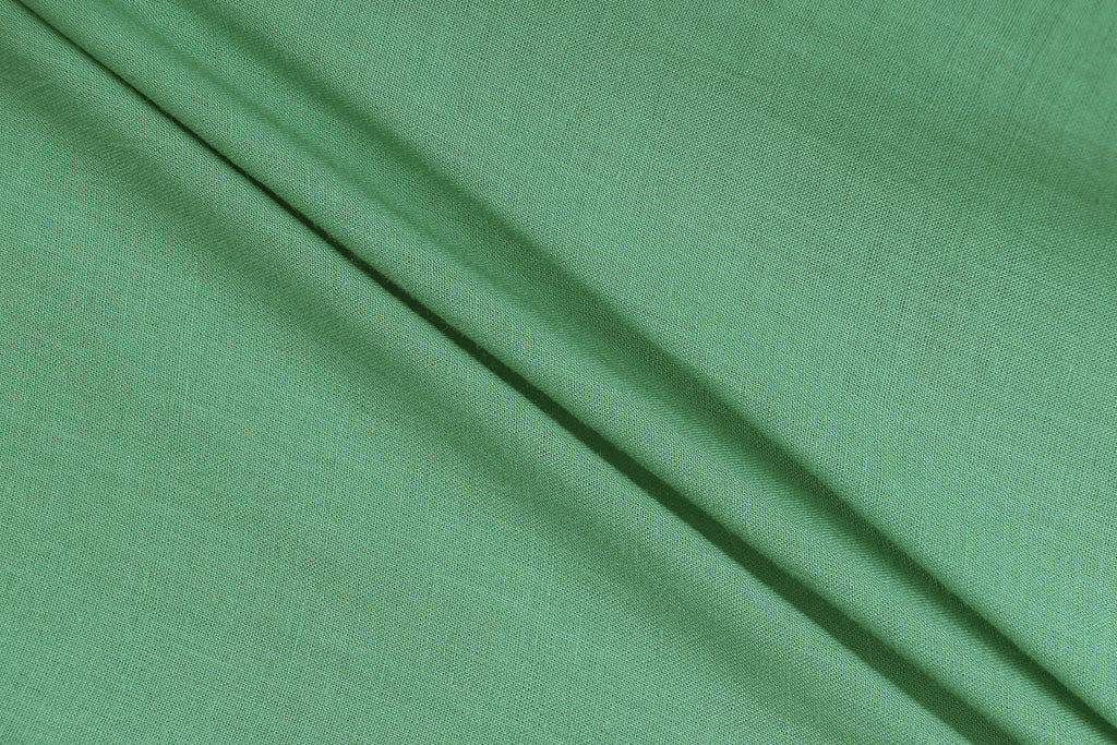 Sea green - Pre Washed Plain Dyed Pure Cotton Fabric (Width - 44in)