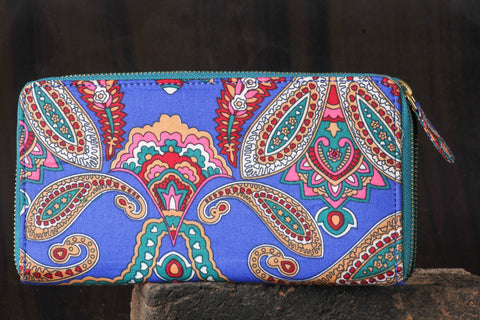 Multicolour Printed Cotton Wallet