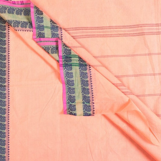 Traditional Chettinad Kandangi Pure Cotton Saree from Tamil Nadu