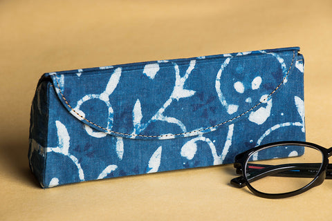 Koral Block Print Fabric Embellished Spectacle Case