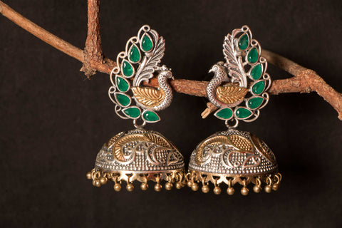 Antique Finish GS Gold Tone Jhumka Earring