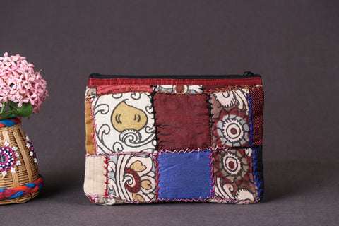Handpainted Kalamkari Natural Dyed Cotton Patchwork Hand Purse