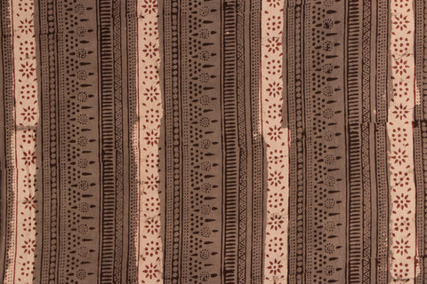 Block Print Precut Cotton Fabric - 2.8 Meter
