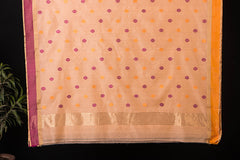 Traditional Chanderi Silk Patti Zari Buti Handloom Saree by Rauph Khan