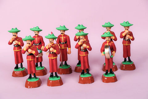 Handpainted Terracotta Gorkha Band Set