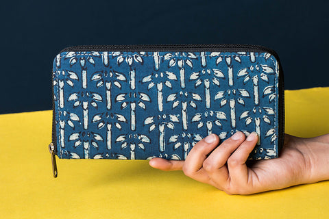 Handcrafted Block Printed Fabric Clutch Wallet