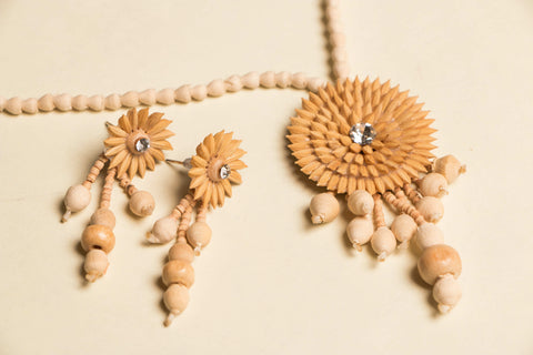 Handcrafted Rice Paddy Necklace Set by Putul