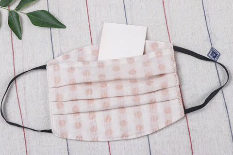 3 Layer Jacquard Cotton Fabric Pleated Face Cover with Filter Pocket