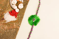 Jalpari German Silver Rakhi with Roli Chawal