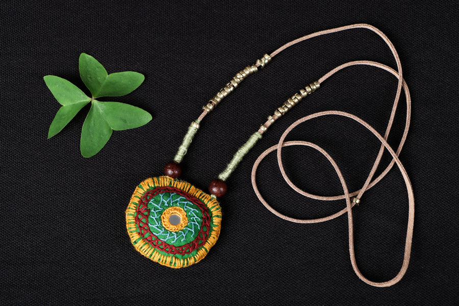 Chammak Challo Katran Bead Work Leather Dori Necklace