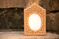 Hand Carved Loquat Wood Jali Photo Frame