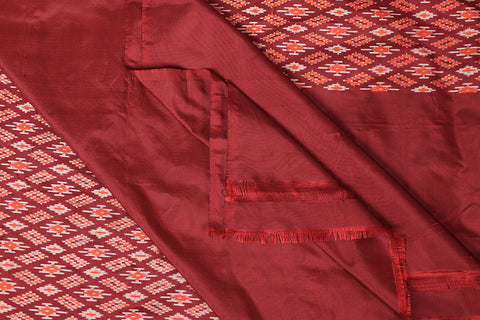 Handspun Pochampally Ikat Pure Silk Saree With Blouse