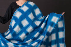Clamp Tie-Dye Chanderi Silk with Zari Dupatta