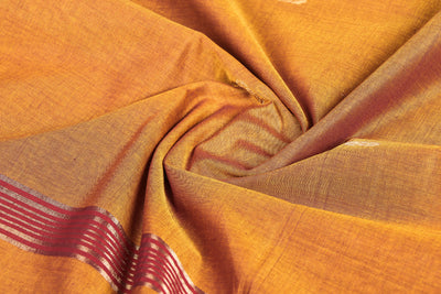 Traditional Chettinad Kandangi Pure Cotton Zari Saree from Tamil Nadu