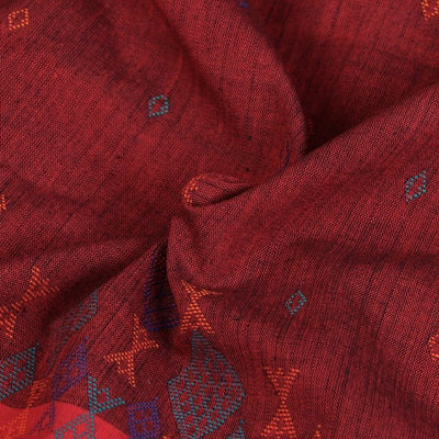 Kashida Stitch Pure Handloom Cotton Kurta Material by Urmul - 3 Meter