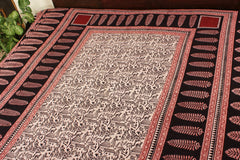 Natural-Dyed Bagh Print Cotton Double Bed Covers