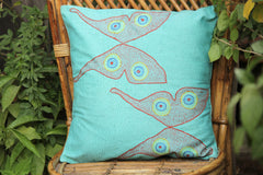 Sujani Kantha Work Cushion Cover By Aunam