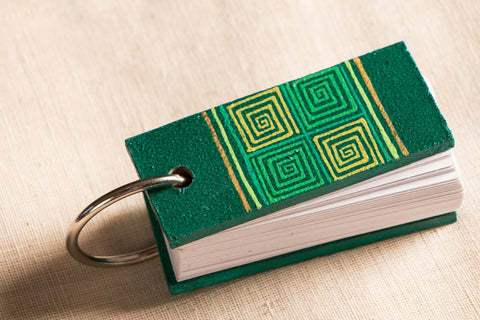 Handpainted Ring Style Small Notepad