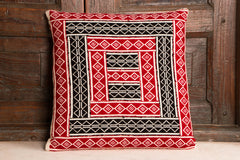 Tribal Toda Hand Embroidery Cushion Cover (single)